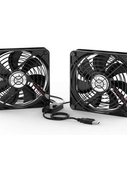 ELUTENG Dual 120mm USB Fan W/3 Speed Controller 5V for Sale in Placentia,  CA