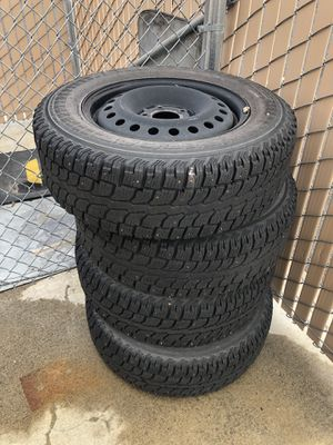 215/70/R16 5x4.5 Lug Studded Winter Tires for Sale in Bend, OR