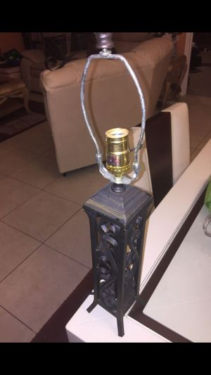 Oriental iron lamp for Sale in Port St. Lucie, FL