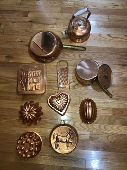 12 piece Copper Kitchenware Cooking, Baking & Decoration Set, Pot Pan Baking Bundt Cake, etc for Sale in Marietta,  GA
