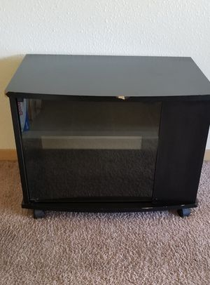 Black tv console with storage for Sale in Boise, ID