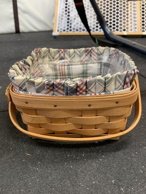 Longaberger medium berry basket with liner and fabric for Sale in Orange, CA