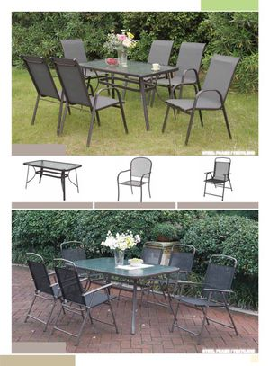 Table 6 Chairs Outdoor set New! for Sale in Brooklyn, NY