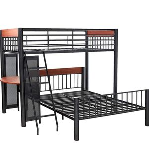 Loft + Twin Size Bunk Bed Frame with desk for Sale in San Diego, CA