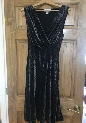 Calvin Klein - black and grey velvet dress for Sale in Philadelphia, PA