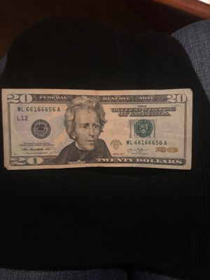 3 number serial on 20$ for Sale in Mason City, IA