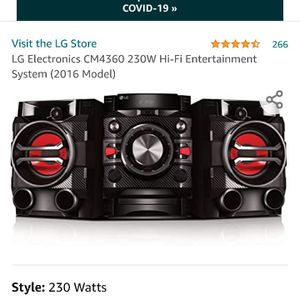 LG CM4360 230 watt Hi-Fi audio system 30 Watts, Bluetooth Connectivity auto DJ and DJ Sharing, USB Direct Recording, CD Player In GOOD CONDITION for Sale in San Diego, CA