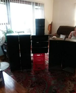 1 RCA Sub Woofer, 2 Sony 12 Inch Speakers, Sony 3 Piece Stereo System Digital Cinema Studio EX, Sony DVD CD Video CD Player Song Mega Storage 200CD for Sale in Northwest Plaza, MO