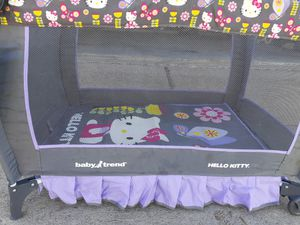 Hello kitty pack and play for Sale in Katy, TX