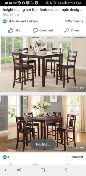 BRAND NEW DINING TABLE WITH 4 CHAIRS BY USA MEXICO FURNITURE ADD MATTRESS AND FURNITURE AVAILABLE EASY CREDIT for Sale in Montclair, CA