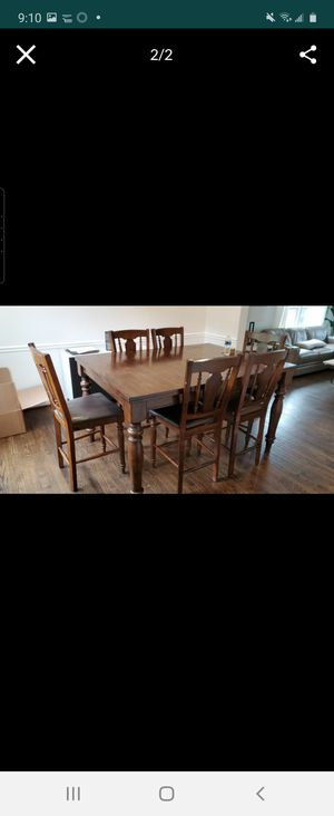 Dining table with chairs used . for Sale in Gaithersburg, MD