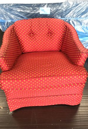 Ethan Ellen chair swivel red fabric for Sale in Villa Park, CA