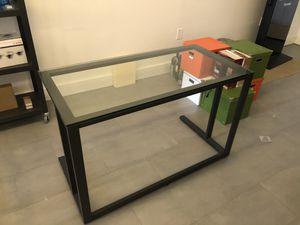 Metal + Glass Desk. for Sale in Hollywood, FL