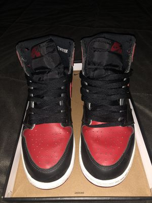 2016 air Jordan bred 1 size 7y for Sale in Hayward, CA