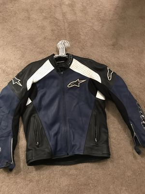 Alpinestars motorcycle leather jacket size M for Sale in Rockville, MD