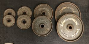 Universal Olympic weight plate set -190 lbs for Sale in Phoenix, AZ