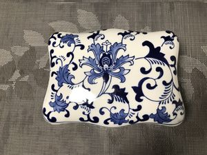 Blue and White Flower Porcelain Box for Sale in Seattle, WA