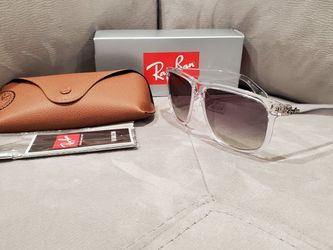 Rare! 😎 Ray-Ban RB4147 Boyfriend CUSTOM sunglasses Clear/Gradient Gray for Sale in Fort Lauderdale,  FL