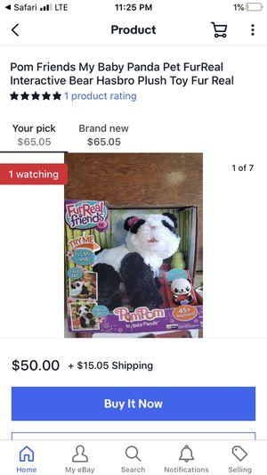 Furreal friends panda for Sale in Garden City, MI