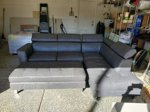 Sectional Couch with ratchet back headrests. Includes Ottoman for Sale in Chandler, AZ