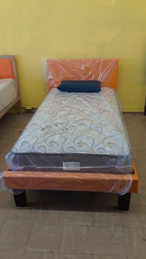 NEW TWIN BED WITH MATTRESS for Sale in San Bernardino, CA