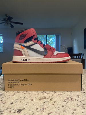 Nike Jordan 1 Off-White Chicago Size 9 for Sale in Pompano Beach, FL