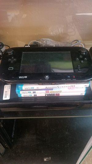 NINTENDO WII U WITH GAMES NO TRADES for Sale in Mesa, AZ