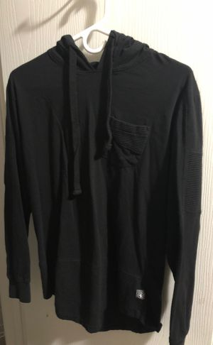 All black fitted Jacket with hoodie for Sale in Grand Prairie, TX