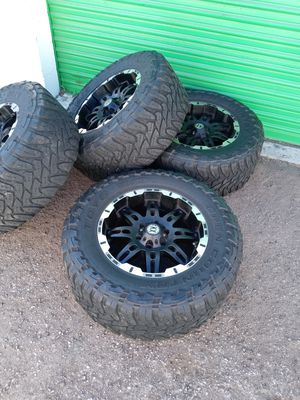 "18"" Katana off road rims and Toyo open country tires for Sale in Las Vegas, NV"