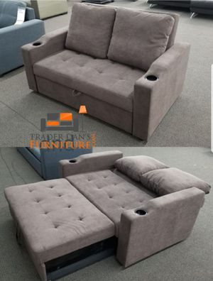 Brand New Cappuccino Color Linen Sleeper Sofa w/Cup Holders (3 Color Options) for Sale in Silver Spring, MD