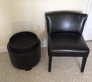 Chair and storage ottoman for Sale in Billerica, MA