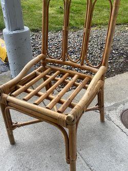 Rattan Bamboo Chair for Sale in Tacoma,  WA