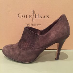 """Cole Haan air talia Suede bootie - polyvore ankle boots size 6B Nike Air Soles with 3 1/2"""" Heels (Tribeca Manhattan) for Sale in New York, NY"""