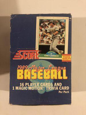 1989 Score unopened baseball card packs for Sale in Rutland, MA