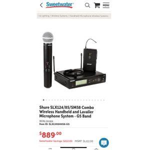 Wireless Mic Shure for Sale in Southfield, MI