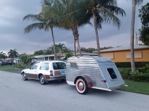 1958 SERRO SCOTTY Jr TRAVEL TRAILER CANNED HAM VINTAGE PULL BEHIND CAMPER motorhome tiny house camping adventure mobile vw bus kombi for Sale in Pompano Beach, FL