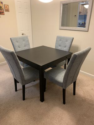 Extended dining table and 4 chairs for Sale in Herndon, VA