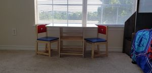 Kids table set 2 chairs 1 table for Sale in Fort Worth, TX