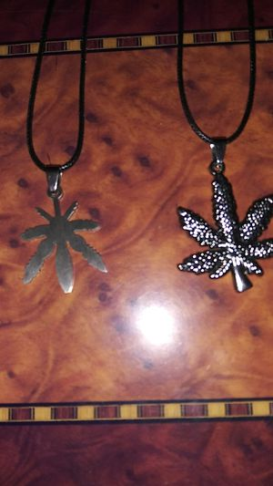 Cannabis pot leaf charm necklaces for Sale in Lincoln Acres, CA