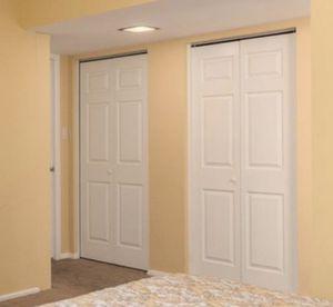 Two white folding closet doors bi fold for Sale in Scottsdale, AZ