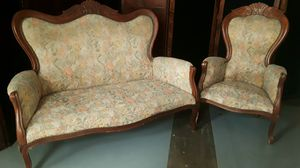 Antique settee and chair for Sale in Dallas, TX