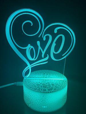 Beautiful love ❤️ 3D lamp for Sale in Las Vegas, NV