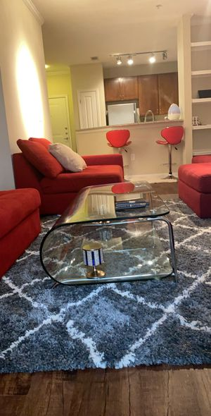 SOLD SEPARATELY!!! The red sectional couch and pillows, Glass table, red BAR stools and white bed set ARE FOR SALE (price is negotiable) PICKUP 1/24 for Sale in Dunwoody, GA