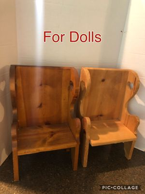 Set of 2 Wooden Doll Chairs for Sale in Manassas, VA