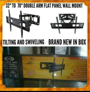 Heavy Duty TV Wall Mount for 32-70″ LED, LCD, OLED and Plasma Flat Screen TV with Full Motion Swivel Articulating Dual Arms for Sale in Downey, CA