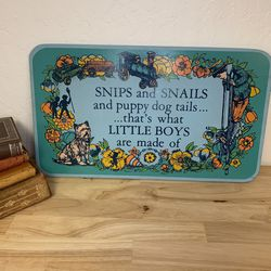 Little Boys Nursery Sign for Sale in San Jose,  CA