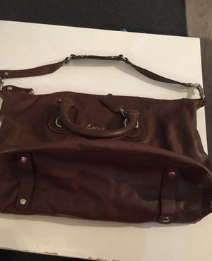 Brown leather coach purse for Sale in Aloha, OR