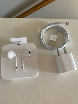 Apple original earbuds and charger for Sale in Bristol, PA