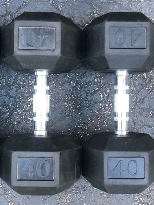 40 LB. NEW RUBBER DUMBBELLS for Sale in Pompano Beach, FL