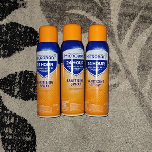 3 cans MICROBAN 24 Hour Sanitizing Spray 15 oz for Sale in Triangle, VA